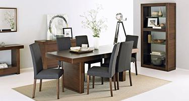 Bentley Designs Akita Walnut Dining Room