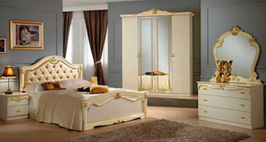 Ben Company Eva Beige with Gold Italian Bedroom