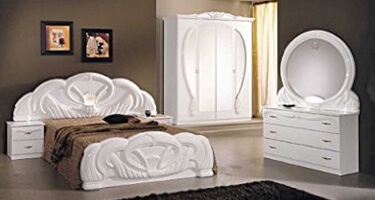 Ben Company Giada White Italian Bedroom