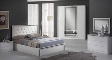 Ben Company New Ferrara White Italian Bedroom