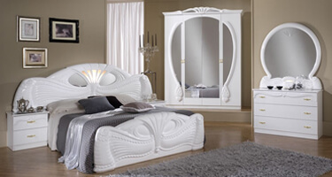 Ben Company Pamela White Italian Bedroom