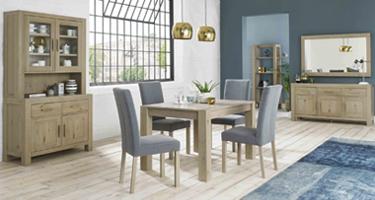 Bentley Designs Turin Aged Oak Dining Room