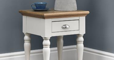 Bentley Designs Hampstead Soft Grey and Pale Oak Living Room