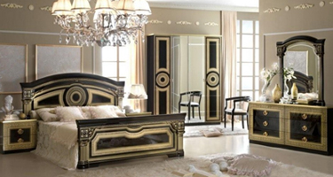 Camel Group Aida Black and Gold Italian Bedroom