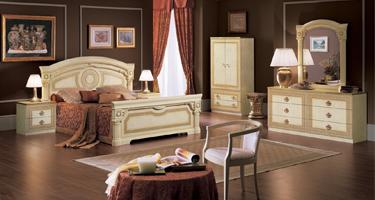 Camel Group Aida Ivory Finish Italian Bedroom