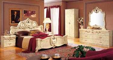 Camel Group Barocco Ivory Finish Italian Bedroom