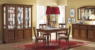 Camel Group Nostalgia Walnut Italian Dining Room