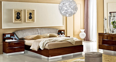 Camel Group Onda Walnut High Gloss Bedroom