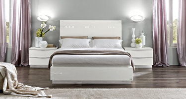 Camel Group Onda White High Gloss Bedroom