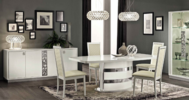 Camel Group Roma White High Gloss Dining Room