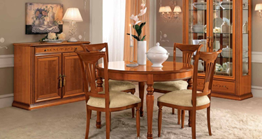 Camel Group Siena Cherry Finish Dining Room