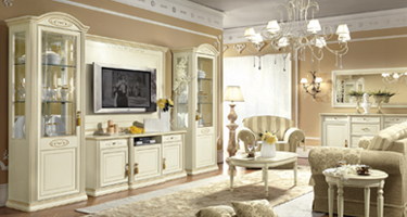 Camel Group Siena Ivory Finish Living Room