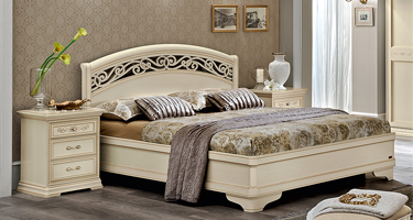 Camel Group Torriani Ivory Finish Italian Bedroom