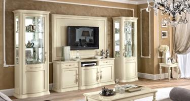 Camel Group Torriani Ivory Finish Italian Living Room