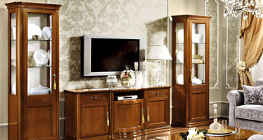 Camel Group Torriani Walnut Finish Italian Living Room