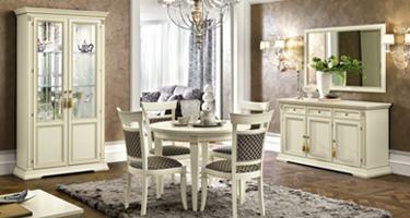 Camel Group Treviso White Ash Finish Italian Dining Room
