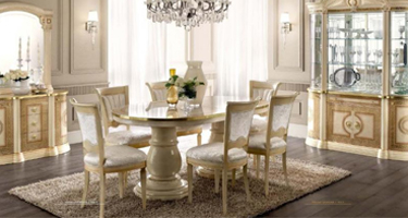 Camel Group Aida Ivory and Gold Italian Dining Room