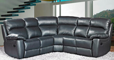 Furniture Link Aston Black Leather Sofas