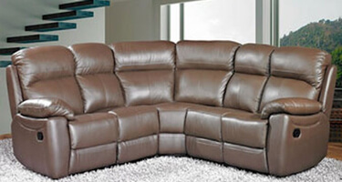 Furniture Link Aston Brown Leather Sofas