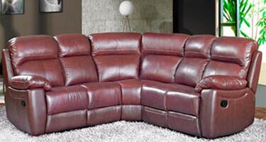 Furniture Link Aston Chestnut Leather Sofas