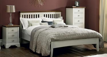 Bentley Designs Hampstead Soft Grey and Walnut Bedroom