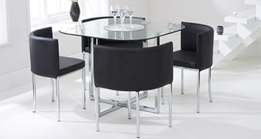 Mark Harris Abingdon Stowaway Glass Dining Room