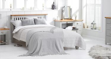 Mark Harris Sandringham Oak and Grey Bedroom