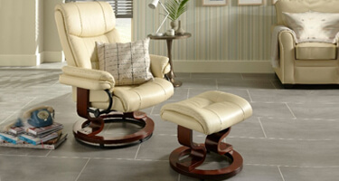 Serene Furnishings Bonded Leather Recliner Chairs