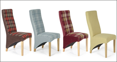 Serene Furnishings Fabric Dining Chairs