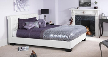 Serene Furnishings Faux Leather Bedsteads