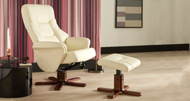 Serene Furnishings Faux Leather Recliner Chairs