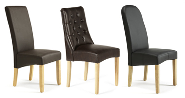 Serene Furnishings Leather Dining Chairs