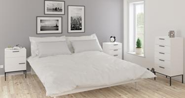 Steens Slimline White Bedroom