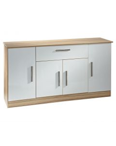 Welcome Furniture Living Wooden Wide 4 Door 1 Drawer Unit