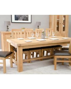 Homestyle GB Bordeaux Oak Twin Panel Large Extending Dining Table Only