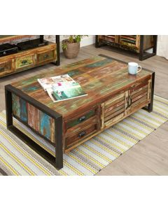 Baumhaus Urban Chic 4 Door 4 Drawers Large Coffee Table