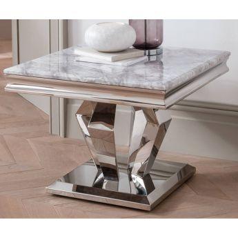 Vida Living Arturo Grey Marble Lamp Table
