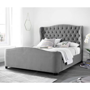 Kaydian Beds Duchess Velvet Plume Fabric Bed Frame