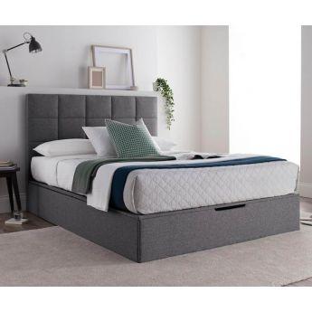 Kaydian Beds Whitburn Spirit Platine Fabric Ottoman Bed Frame