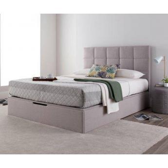 Kaydian Beds Whitburn Spirit Silver Fabric Ottoman Bed Frame