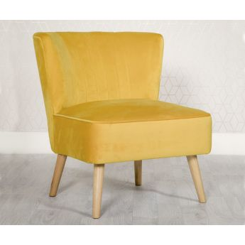 Furniture Line Louis Ochre Fabric Accent Chair