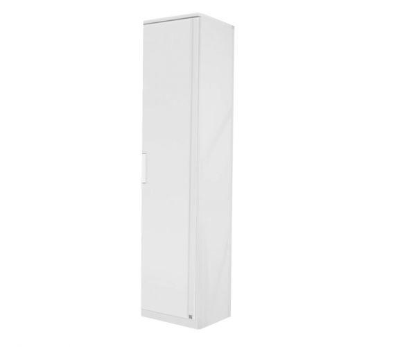 Rauch Rivera Alpine White 1 Door Wardrobe with Cornice (W47cm)
