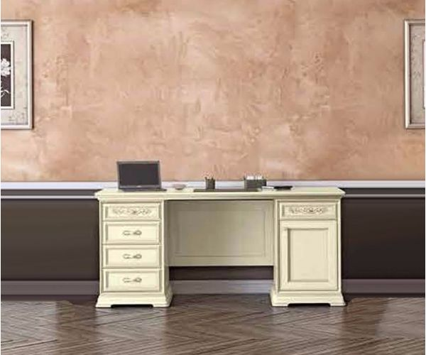Camel Group Torriani Ivory Finish Large Writing Desk