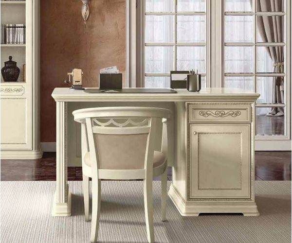 Camel Group Torriani Ivory Finish 1 Door 1 Drawer Writing Desk