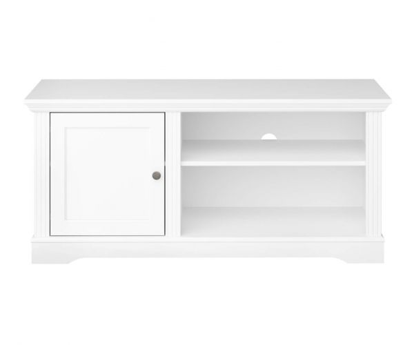 Steens Venice White Small Media Table