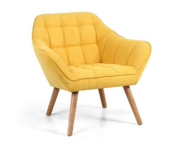 Shankar Coral Sunny Yellow Studio Chair