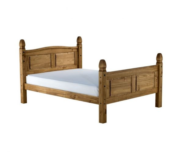 Birlea Furniture Corona Pine High Footend Wooden Bed Frame