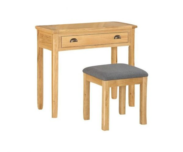 Annaghmore Glenbrook Oak Dressing Table and Stool