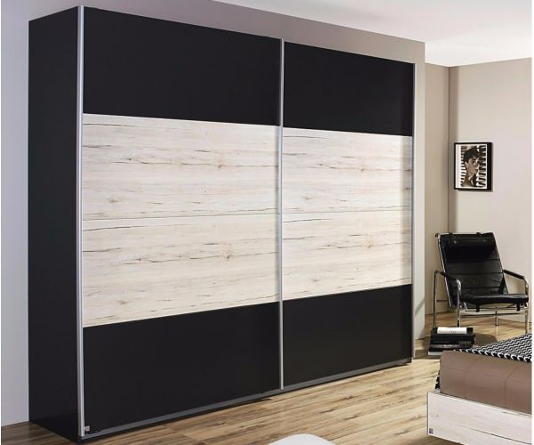 Rauch Furniture Quadra Gliding Door Wardrobe (W315cm)
