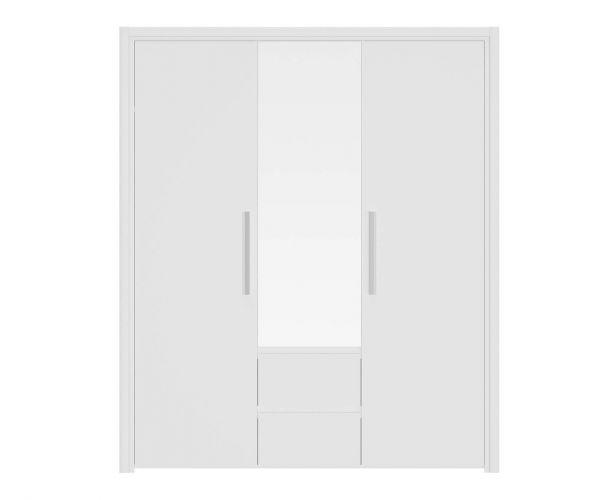 Gami Abby White 3 Door 2 Drawer Wardrobe